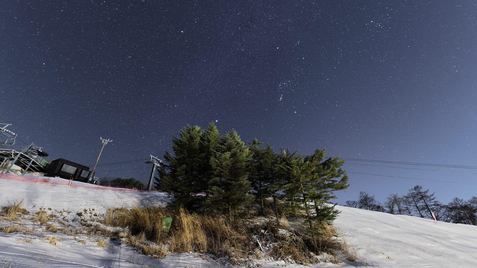 輕井澤冬夜銀河