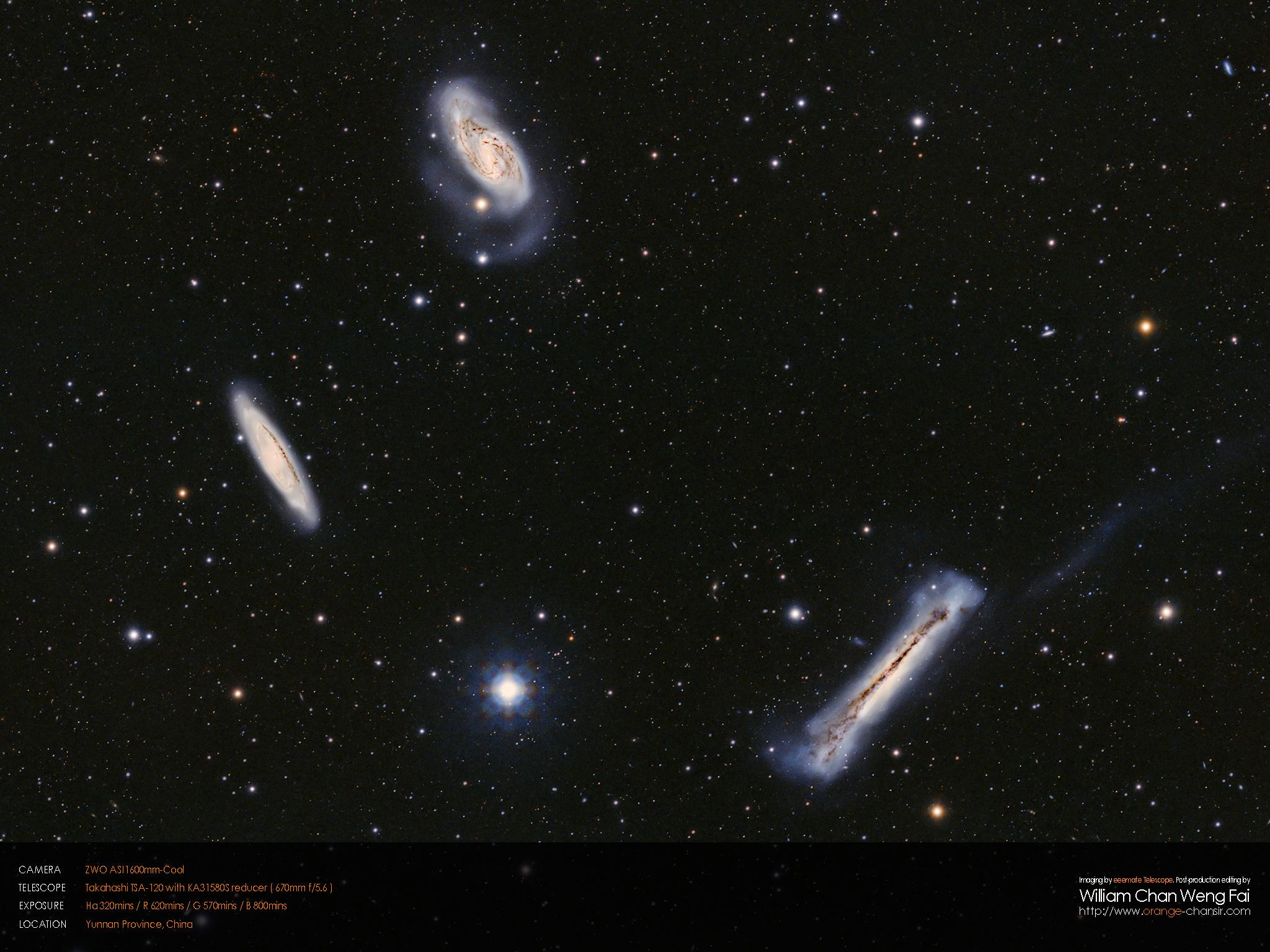 獅子座三重星系( M65 、 M66 、 NGC3628 )