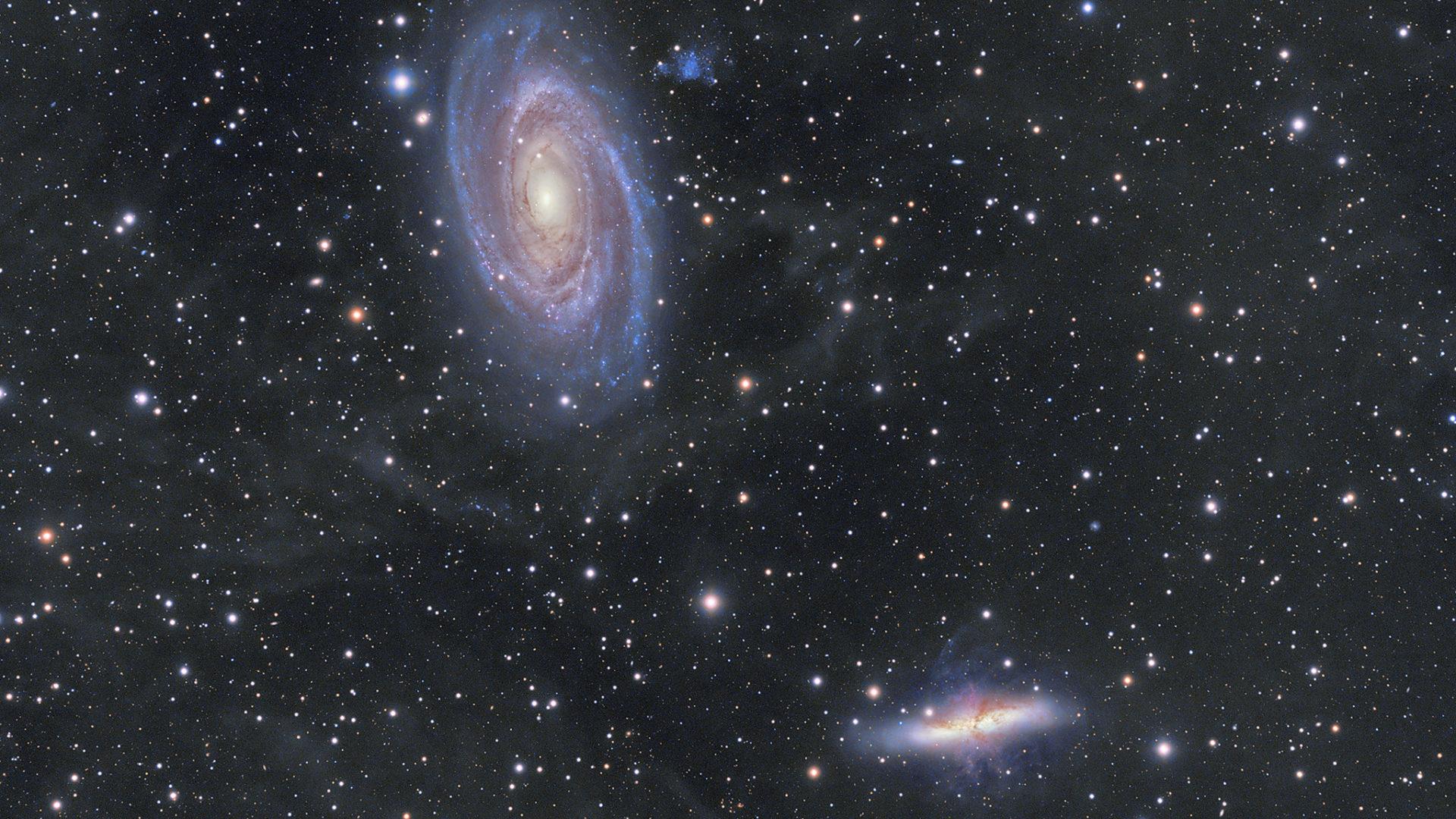 波德星系( Messier 81 )與雪茄星系( Messier 82 )