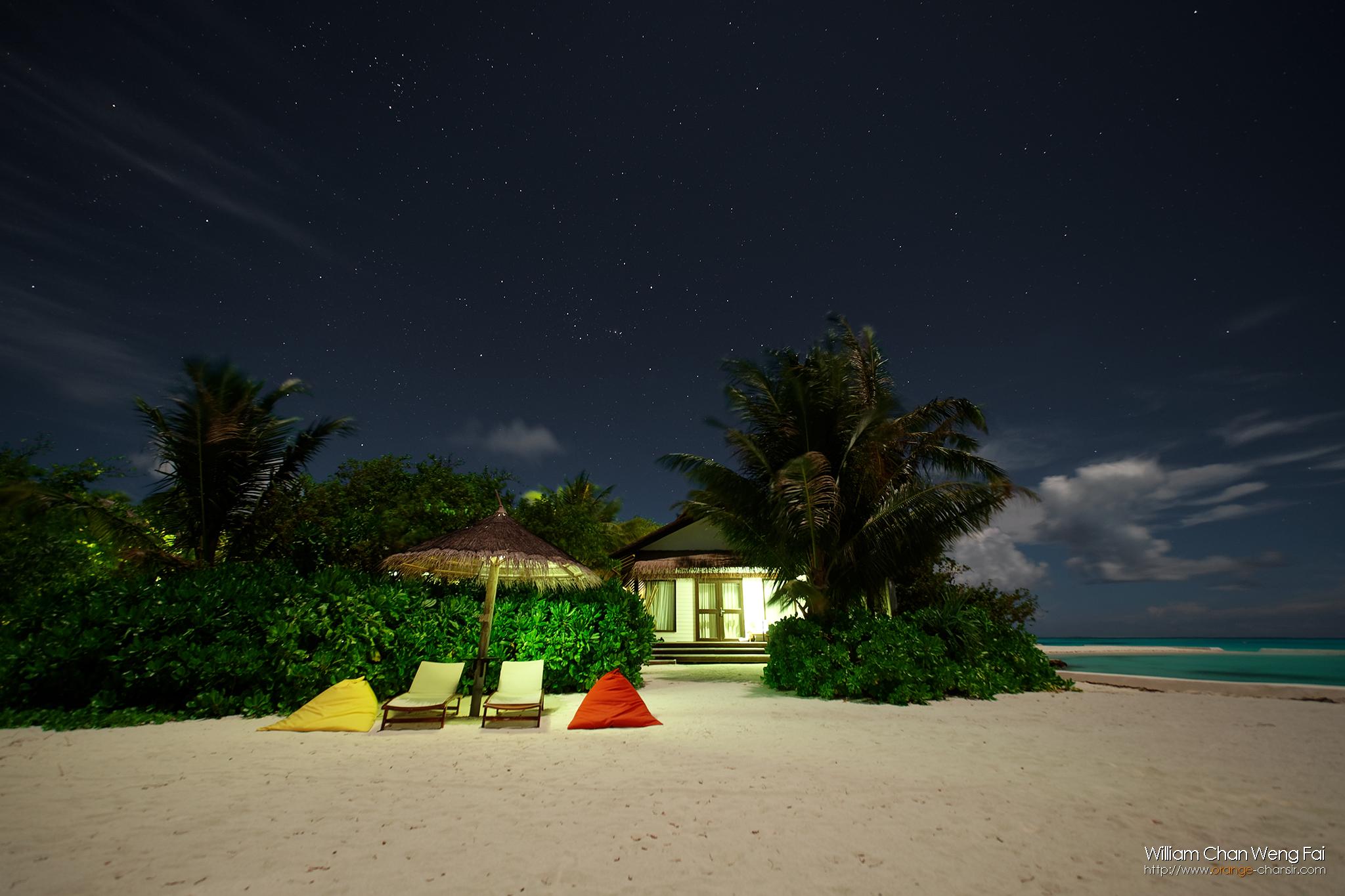 馬爾代夫的夏季星空