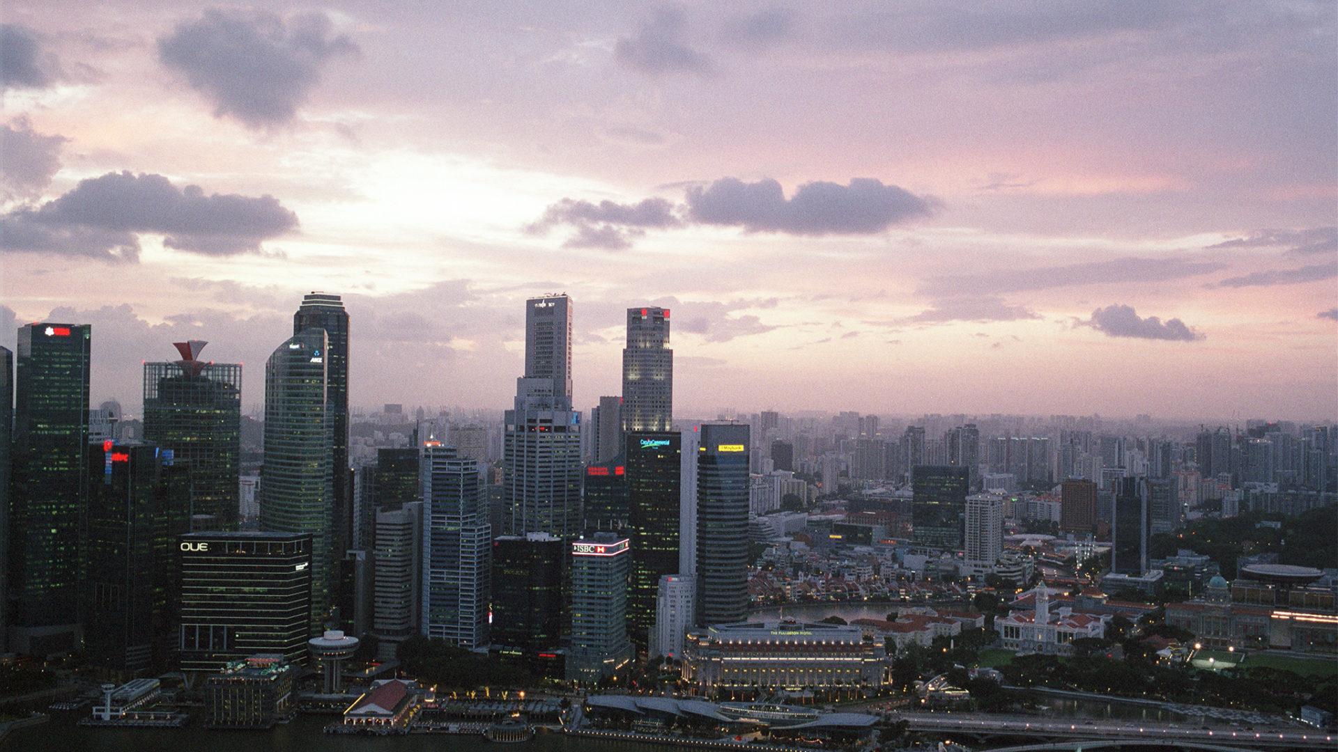 新加坡高空晚色