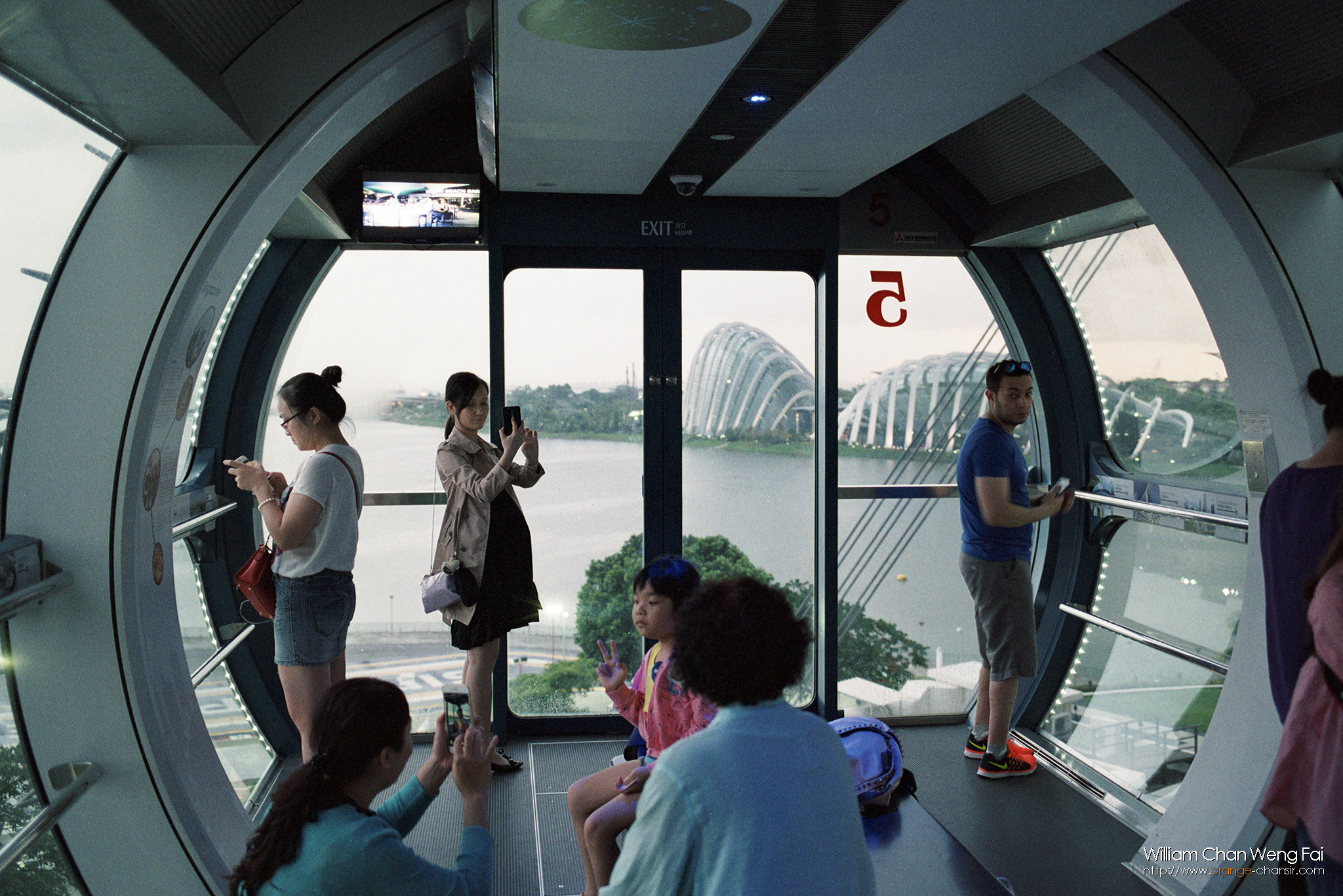 Singapore Flyer 廂內